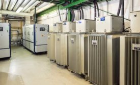 The combination of two combined heat and power (CHP) units and two InvenSor adsorption chillers generates power, heat, and cooling for 12 electroplating machines.