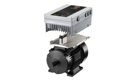 The VLT® DriveMotor FCM106 combines a high-efficiency motor with a Danfoss drive providing a lower cost, high-efficiency drive/motor solution used on air handlers, rooftop units, and pumps.