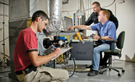 INCREASED SALES: Oil-fired furnaces are the subject of much research and development at Dettson, which is on track to increase sales 15 percent this year.