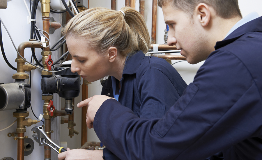 If there is a lack of female representation in the HVAC industry, it starts with them not knowing what's available to them.