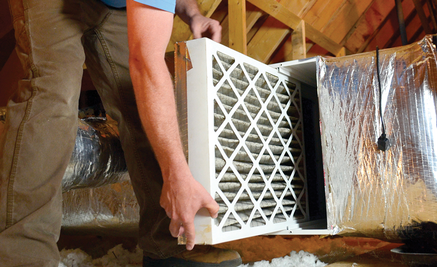 AIR FOR ALL: Installing and maintaining clean air filters is often an integral part of ensuring long-term stability of IAQ within a home.