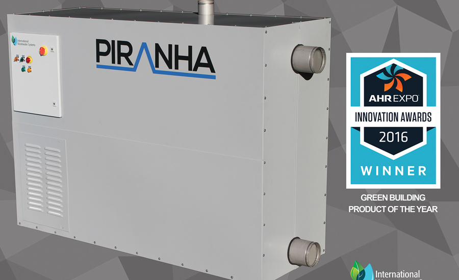 The Piranha wastewater heat recovery heat pump is a self-contained heat pump that extracts thermal energy from wastewater for domestic hot water production using a specially engineered direct-expansion heat exchanger.