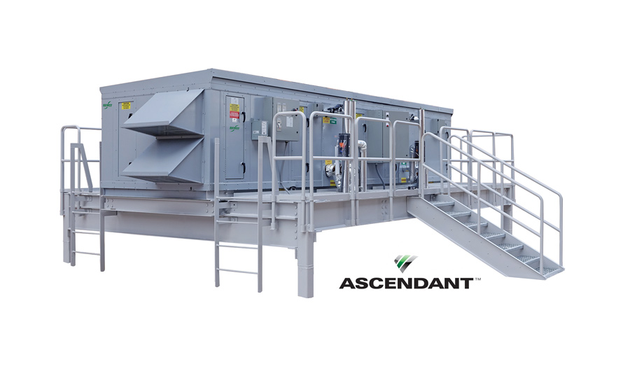 "ASCENDANTâ""¢ is a conventional cooling, active desiccant hybrid system that is performance-optimized to deliver and control low dew point air while minimizing energy input."