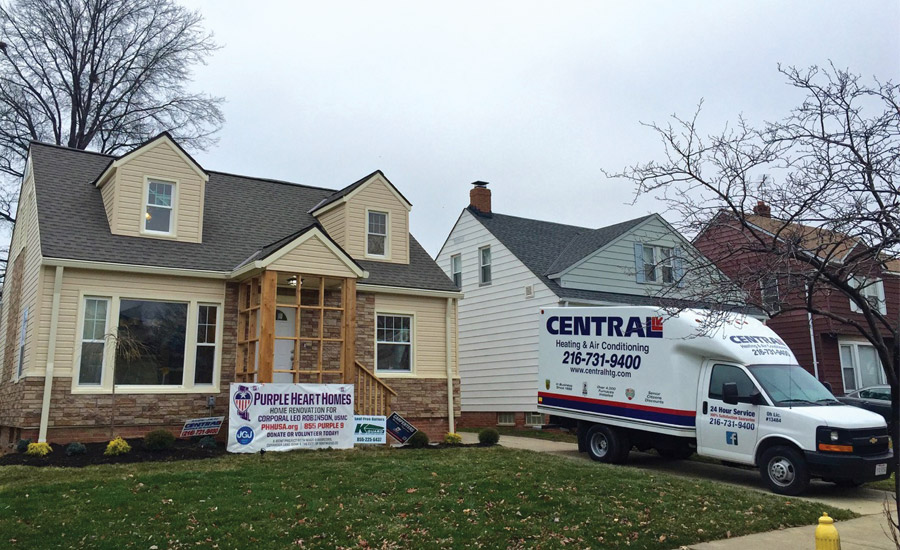 Ohio Contractor Donates $10,000 to Purple Heart Homes Project