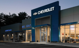 Instead of fighting inclement weather, customers of Mel Grata Chevrolet/Toyota in Heritage, Pennsylvania, now drive through one of two new climate-controlled service/staging areas featuring doorway air curtains.