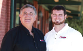 The Reliable Heating & Air family begins here: Dan Jape (left), owner and CEO, and his son, Daniel (right), company president.