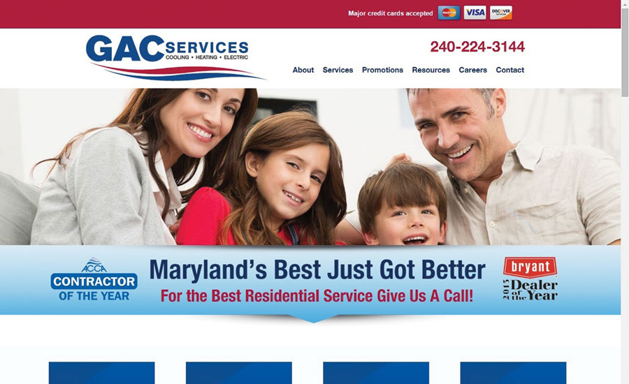 GAC Services in Gaithersburg, Maryland, manages its social media channels internally. After building up the company's brand through social engagement, GAC is starting to see online referrals.