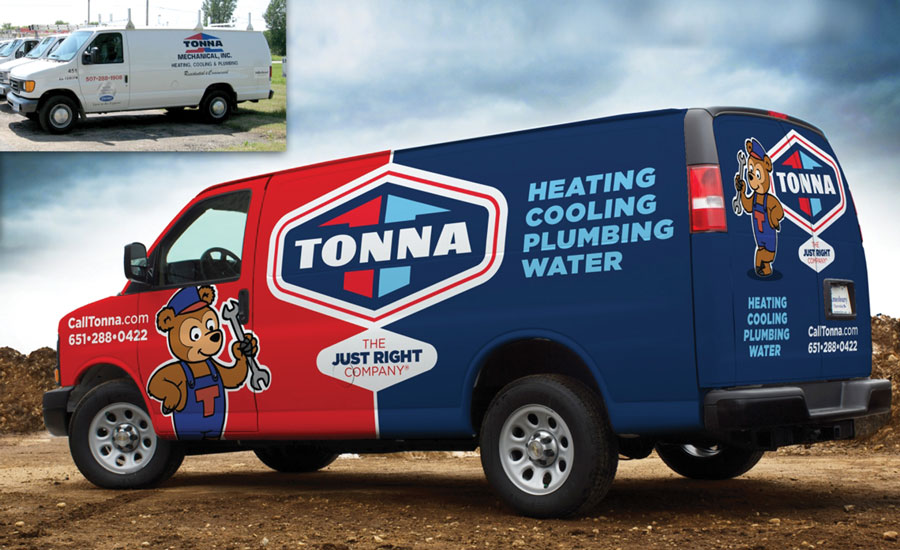 Tonna Mechanical has a total of 35 trucks, 25 of which are branded with new vehicle wraps.