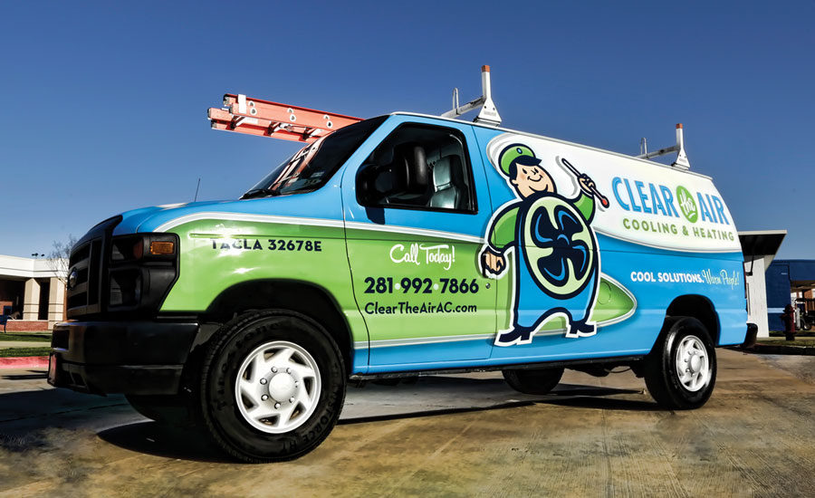 Clear the Air's new brand helps make the company memorable to the community. Jason Stom, CEO, said he is constantly hearing from customers on how much they love the new brand, especially the Fan Man mascot.