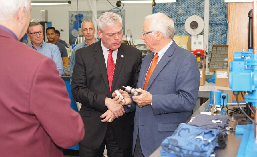 Mayor Visits AquaMotion Inc. in Warwick, Rhode Island