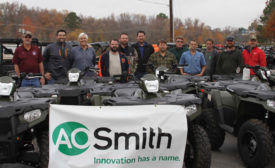 Morrison Supply Co. recently partnered with A.O. Smith Corp. to offer its clients a chance to win a grand prize hunting trip of the winner's choice and a new Polaris Sportsman 570 ATV.