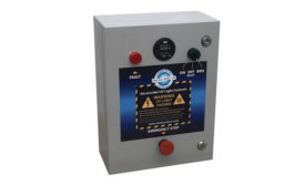 Fresh-Aire UV's Control Panel with PLC is an electromechanical, 16-by-12-by-8-inch, transparent ABS plastic control box that features a front panel hour meter that displays real-time UV lamp life.