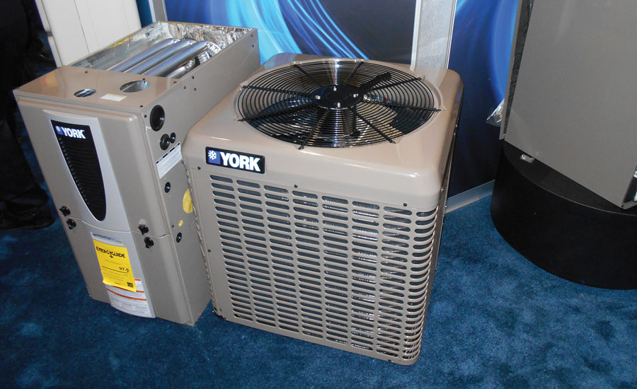 Johnson Controls displayed its new York LX Series split system air conditioners.