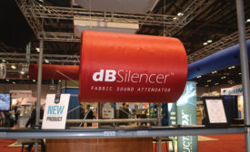 Ductsox's new dBSilencer is a fabric sound attenuator for fabric ductwork systems.