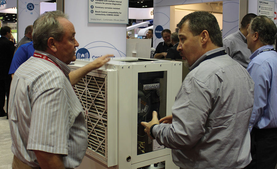 Bosch upgraded its SM Series two-stage packaged geothermal water-source heat pump.
