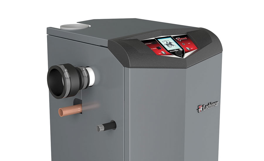 Lochinvar's new floor-standing fire-tube boiler features a stainless steel fire-tube heat exchanger and offers up to 95 percent AFUE efficiency.