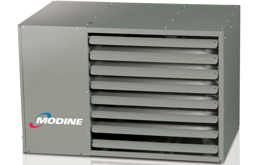Modine's 80 percent efficient unit heater features a stainless steel heat exchanger on all units.