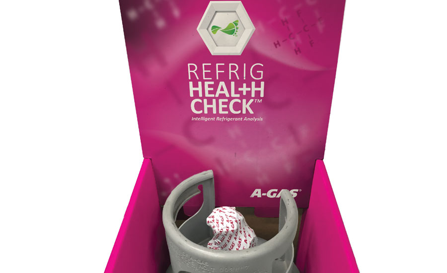A-Gas America's Refrig Health Check tests refrigerant and oil in a working system.