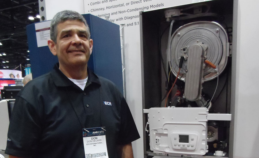 ECR Intl.'s new addition to the condensing boiler family is in response to increasing demand for high-efficiency products, said hydronics/warm air product manager, Don DeCarr.