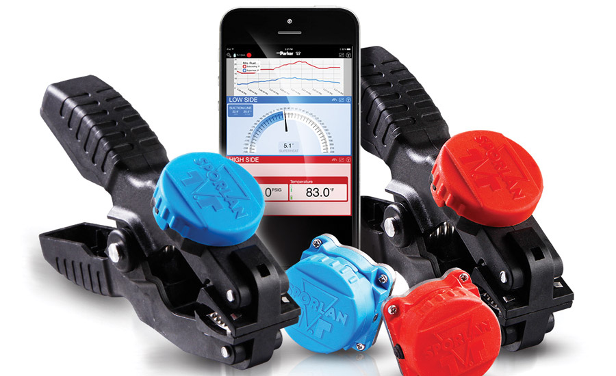 Sporlan's SMART and SMART Pro/R Service Tools are wireless sensors that sync with a mobile device app, enabling a user to read a system's real-time pressures and temperatures without using hoses or manifold gauges.