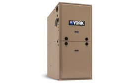 York's TM9Y residential gas furnace combines the comfort of two-stage heating with the efficiency of a standard electronically commutated motor (ECM).