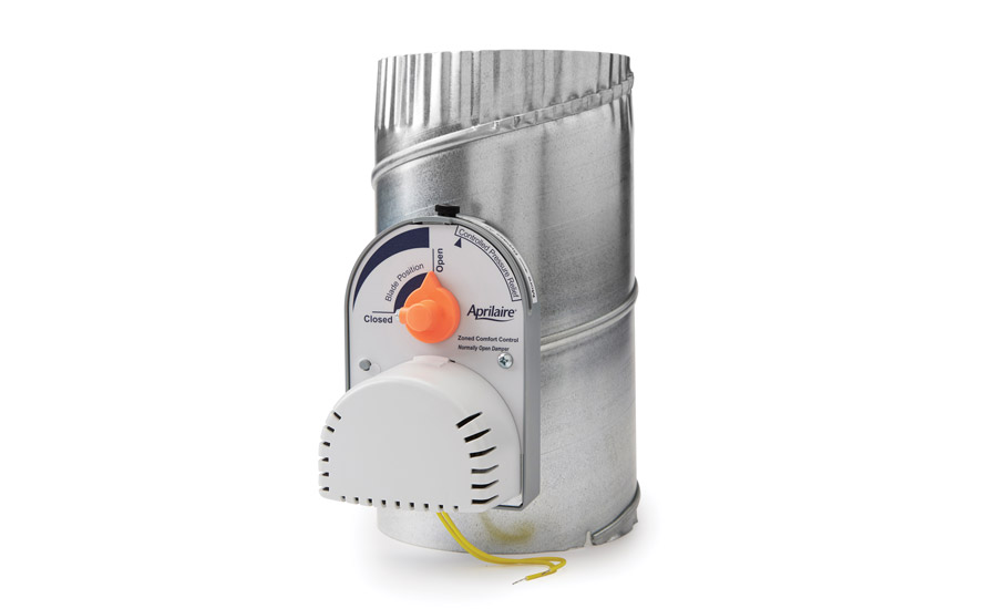 air conditioning damper. aprilaire\u0027s zone damper powers closed, allowing conditioned air to continue flow if the mechanical conditioning u