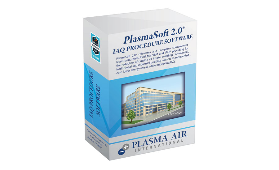 Plasma Air Intl.'s PlasmaSoft 2.0 Indoor Air Quality (IAQ) Procedure Software contains all ASHRAE Standard 62.1 mass-balance equations