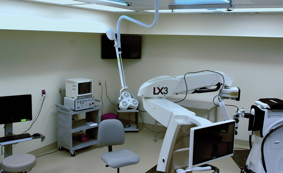 A look inside the surgery room at St. Luke's Cataract & Laser Institute in Tarpon Springs, Florida.