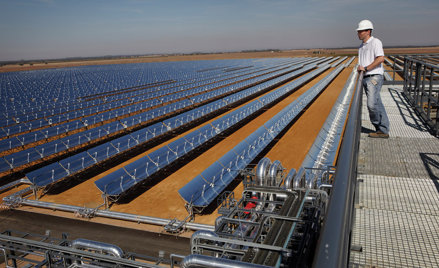 While China and Europe are embracing renewable heating market technologies, such as the solar thermal plant shown here, Americans have been more reluctant to invest large amounts of money into renewables due to low oil and gas prices.