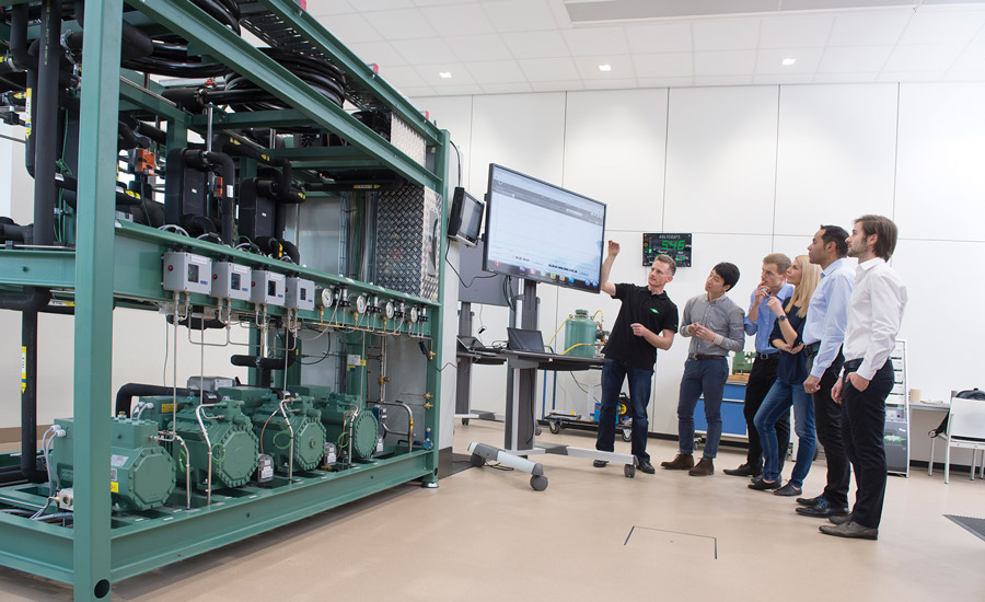 Using the latest technology in modern refrigeration systems, application engineers provide instruction and training for personnel and service technicians from all over the world at Bitzer's new Schaufler Academy in Germany.