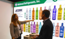 Maureen Beatty (left), executive vice president, National Refrigerants Inc., shares that the industry is looking into ways to make recovery of flammable refrigerants safer