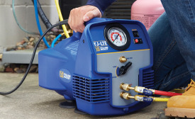 Refrigerant recovery is likely to remain a part of the industry, even in the age of naturals and hydrocarbons. Photo courtesy of Ritchie Engineering Co.