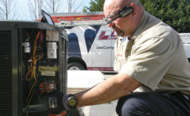 Commercial technicians at Franklin, Tennessee-based Lee Co. use smart glasses to snap photos and create short videos, making it easier to visualize and demonstrate mechanical issues to customers.