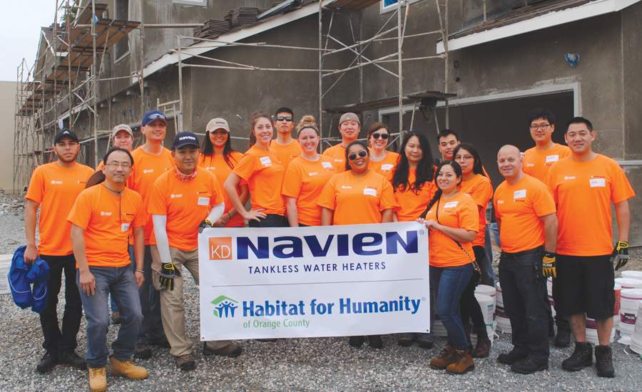 Navien Inc. Donates Labor, Equipment to Habitat for Humanity of Orange County