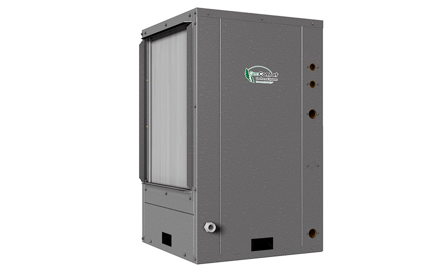 GeoComfort: Commercial Series, GVT 024 - 072 vertical package water-source geothermal heat pump