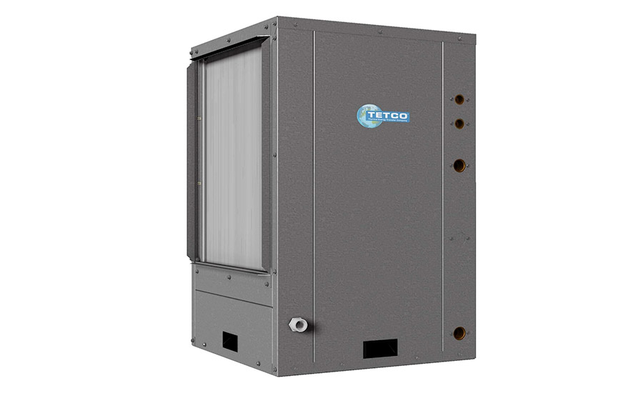 TETCO: Commercial Series, TVT 024 - 072 vertical package water-source geothermal heat pump