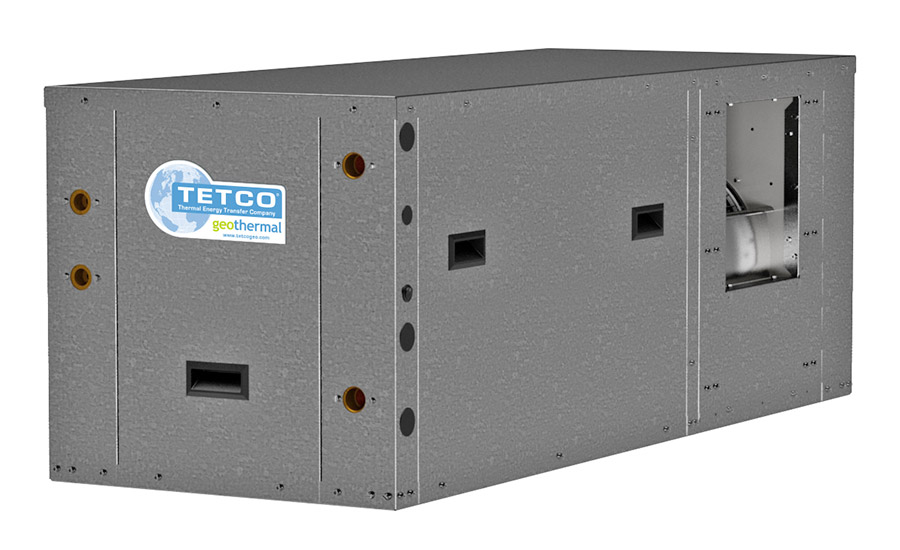 TETCO: Commercial Series, TZT 024 - 072 horizontal package water-source geothermal heat pump
