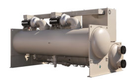 The Daikin Magnitude® magnetic bearing water-cooled chiller is 40 percent more efficient than standard centrifugal chillers and is available in 100-1,500 ton sizes. Photo courtesy of Caikin Applied