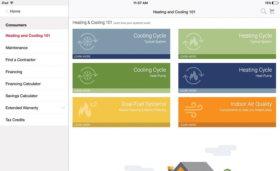Manufacturer Apps Help Simplify Hvac Contracting 2016 05 16 Achrnews