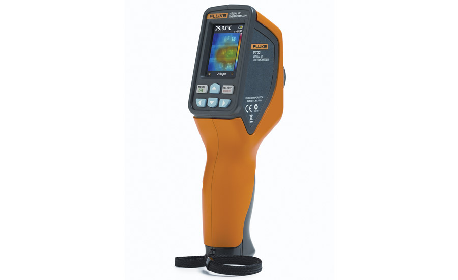 Fluke's VT02 utilizes hyper-thin pyroelectric technology to create an array dense enough to create an infrared heat map.