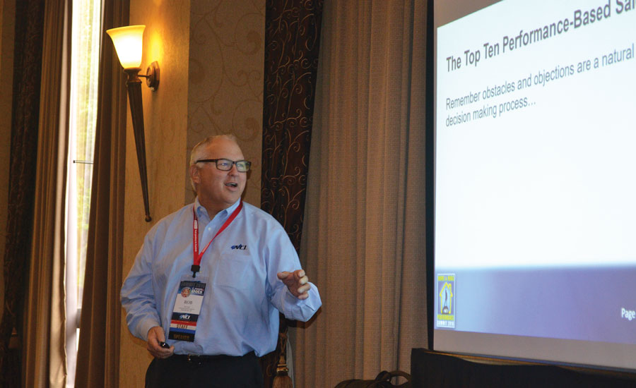 Rob Falke, president of NCI, highlights the Top 10 performance based sales obstacles and how to overcome them during a workshop at NCI's annual Summit Conference in Savannah, Georgia.