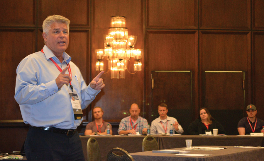 Charlie Dieringer, owner, Air Force 1 Heating & Air Conditioning, Canyon Lake, California leads a workshop on how to sell complete system renovations using NCI's Comfort Analysis during the annual Summit Conference.