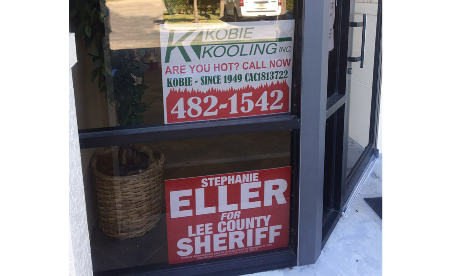 The office of Kobie Kooling is currently serving as the campaign headquarters for a candidate for county sheriff. Company president, Fred Kobie, is strongly committed to participating in the political process.