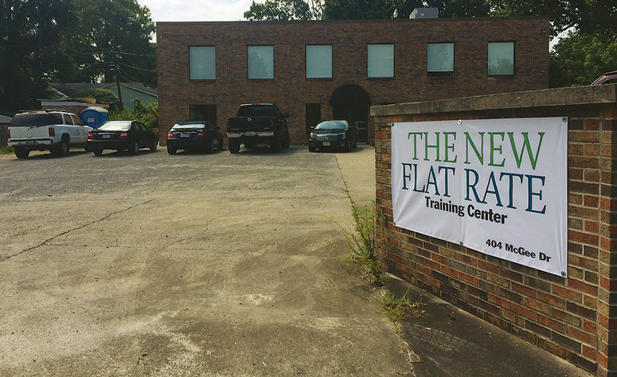 The New Flat Rate's training facility was completed last fall. The organization held its first session at the location Aug. 24, 2015.