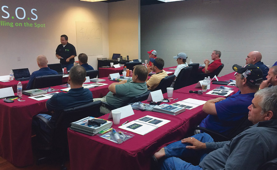 Matt Koop, senior trainer, The New Flat Rate, leads a session on the company's menu pricing approach to HVAC sales.