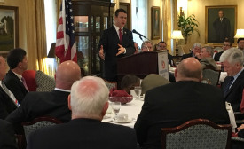 U.S. Rep Todd Young, R-Indiana, speaks to HARDI members at the Capitol Hill Club during the 2016 Congressional Fly-In.