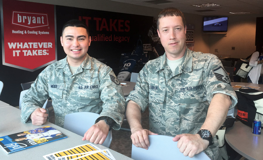 Bryant Hosts USO Event at Indianapolis Speedway