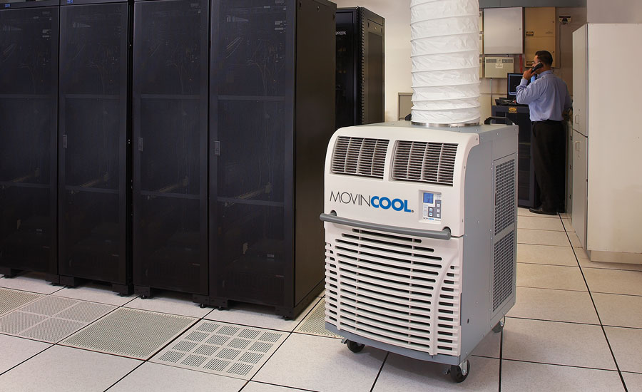 Portable cooling units provide data center managers with peace of mind against costly downtime. MovinCool's Office Pro 36 model accomplishes this by providing 36,000 Btuh of cooling.