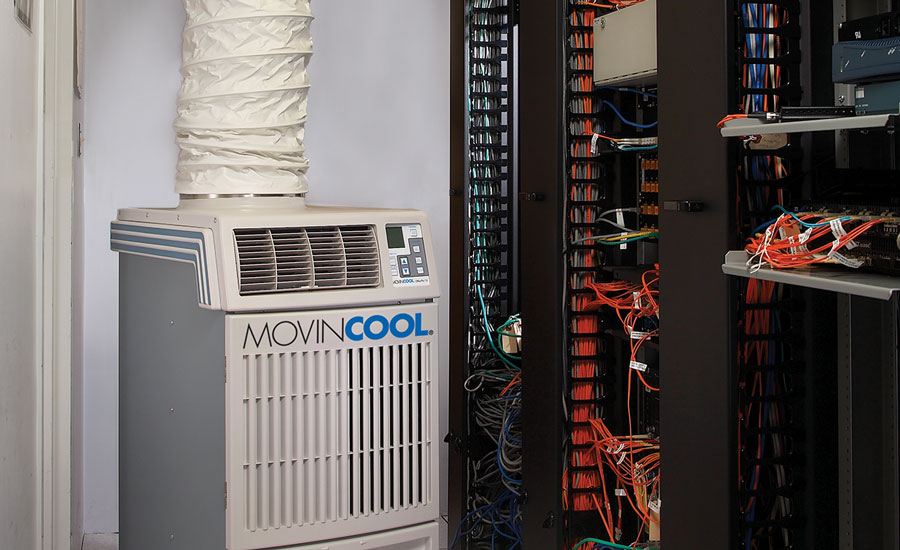 MovinCool's Office Pro 12 model can provide cooling in tight spaces, such as an equipment closet.