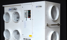 Renting portable units helps data centers to solve temporary cooling issues. Designed for the rental market, United CoolAir's MACH-145 is a 12-ton portable unit with an optional dehumidification mode.